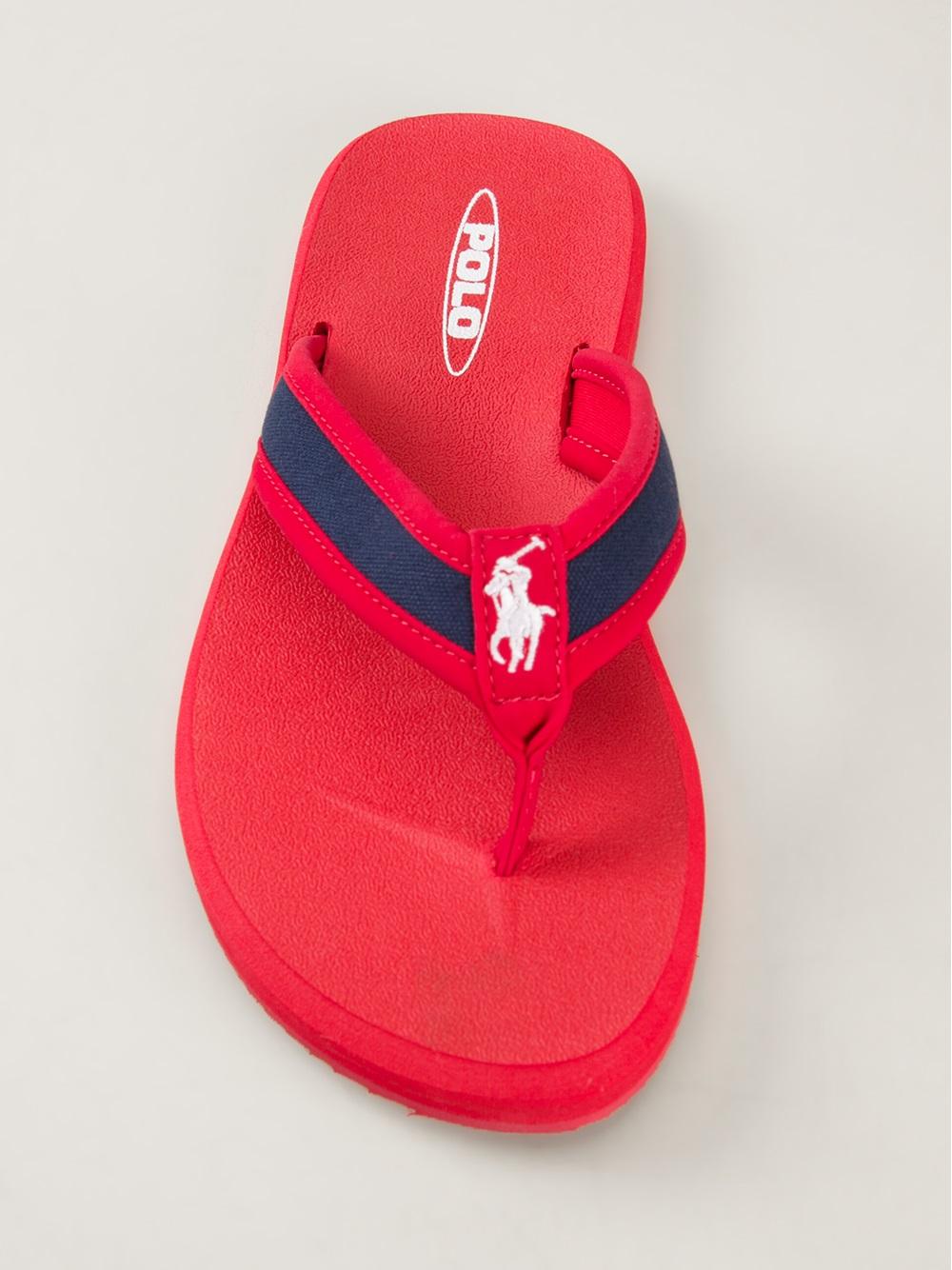 440470c45da Polo Ralph Lauren Almer Flip Flops in Red for Men - Lyst