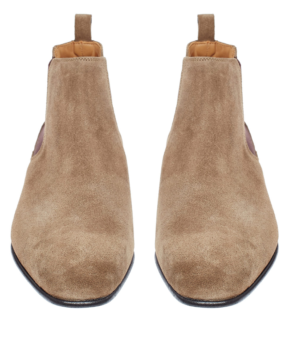Paul Smith Beige Falconer Suede Chelsea Boots In Natural