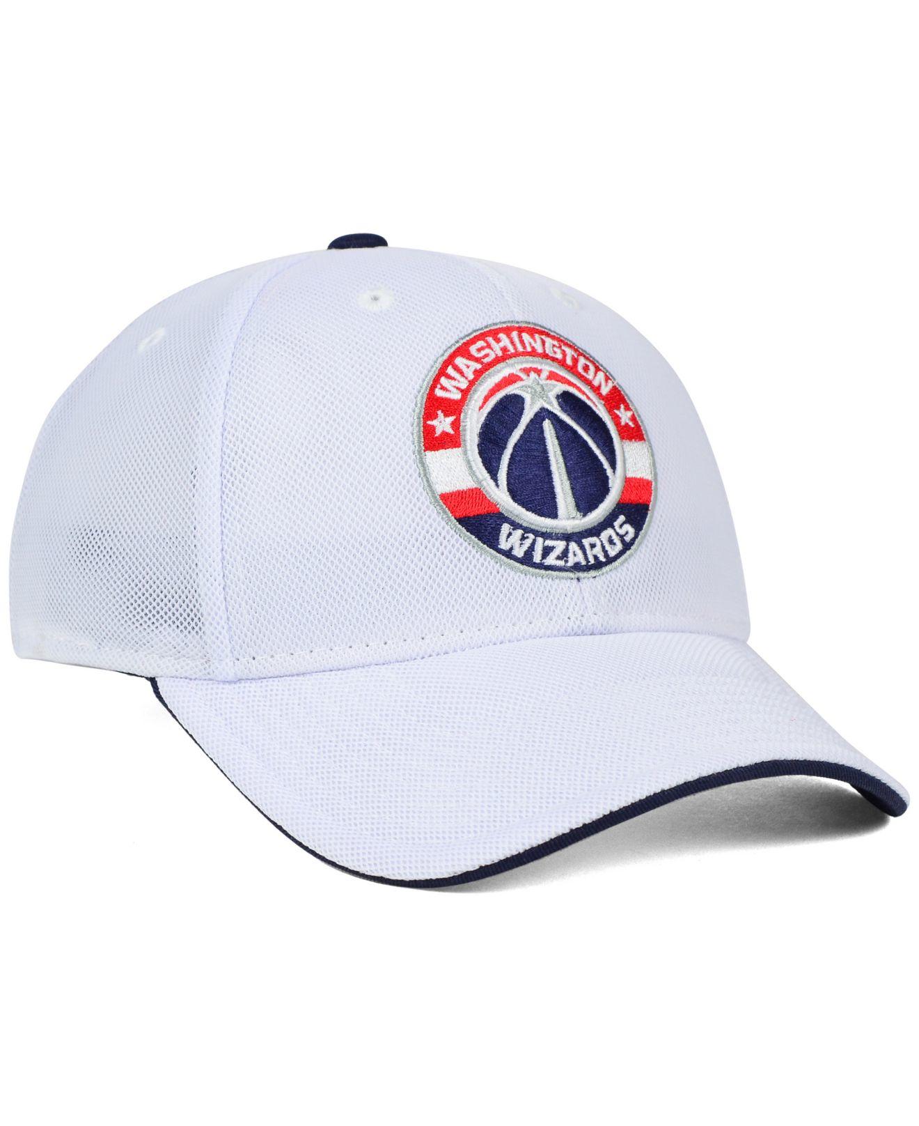 watch 56734 cd580 Lyst - adidas Washington Wizards Authentic Flex Cap in Black for Men