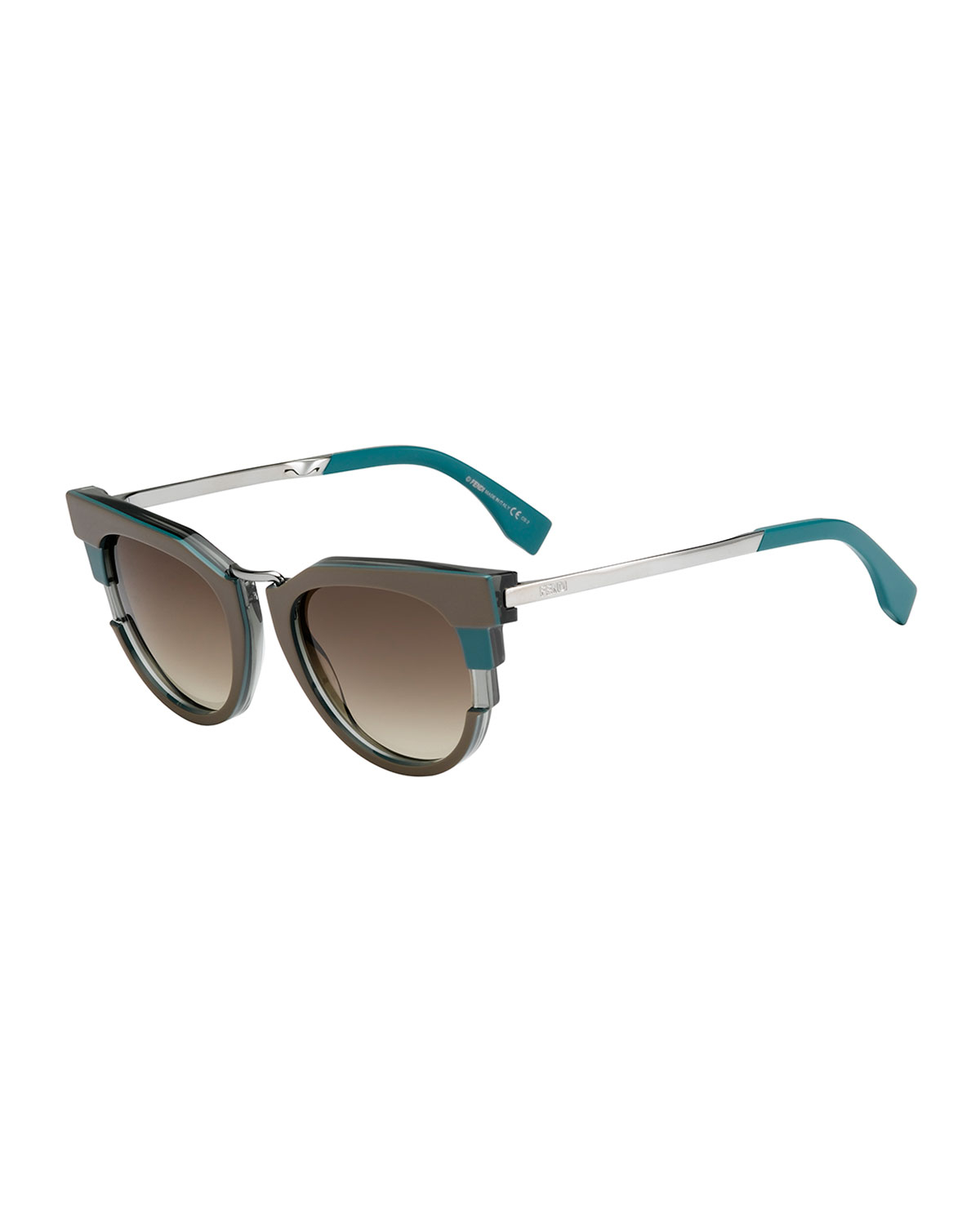 90ad2990a5fc Fendi Metal Shield Sunglasses