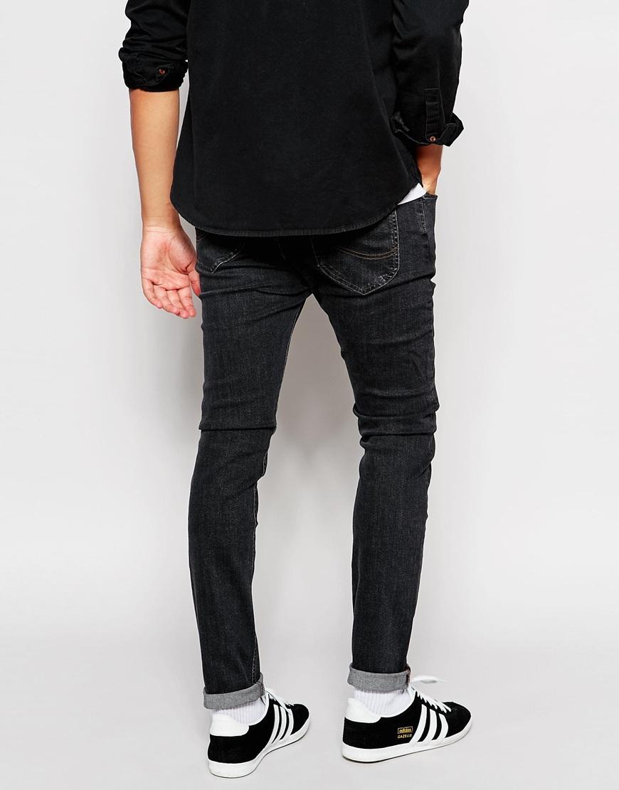 4e595a0b Lee Jeans Jeans Malone Super Stretch Super Skinny Fit Washed Black ...