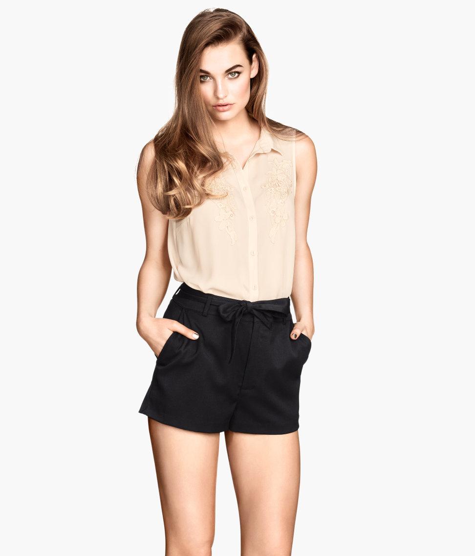 Hu0026m Short Shorts in Black | Lyst