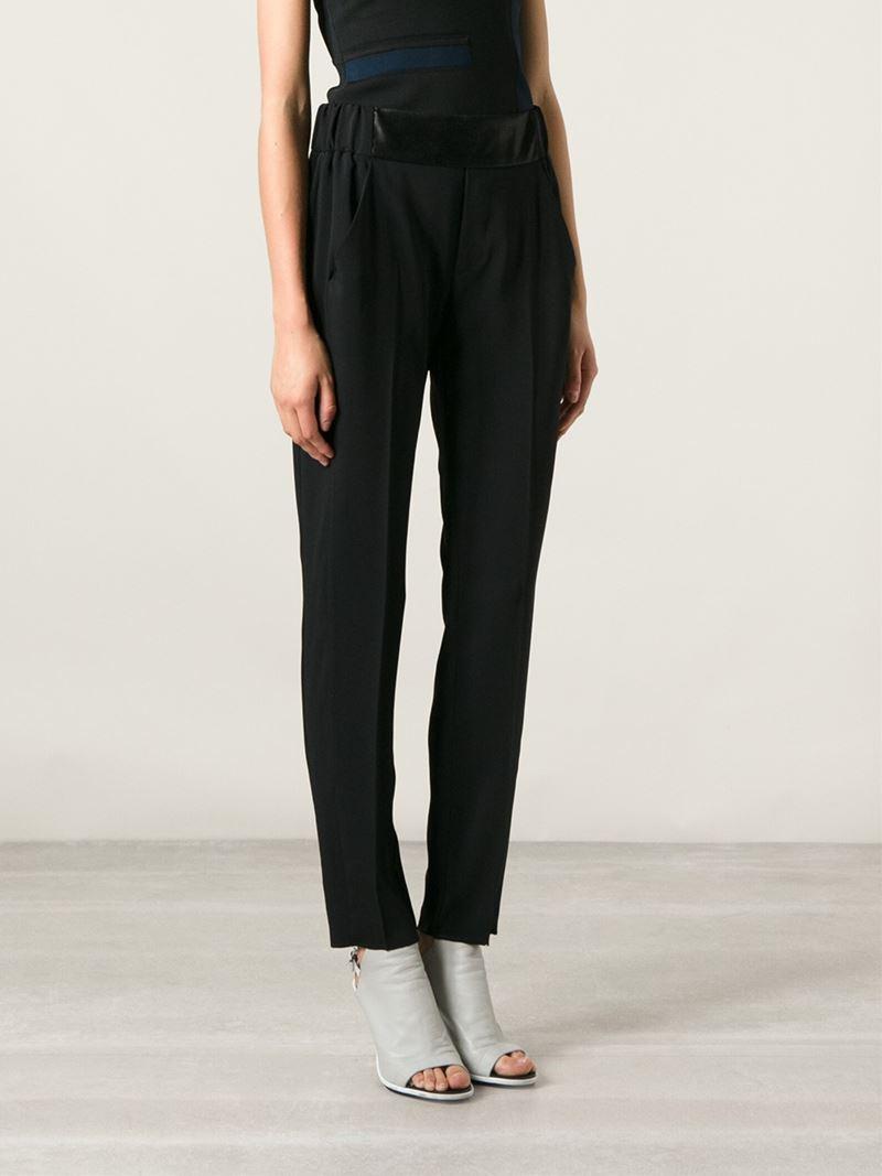 high-waisted trousers - Black Maison Martin Margiela Geniue Stockist Cheap Price For Cheap Online 100% Original Cheap Online Marketable Cheap Price 4Px5hxqIRk