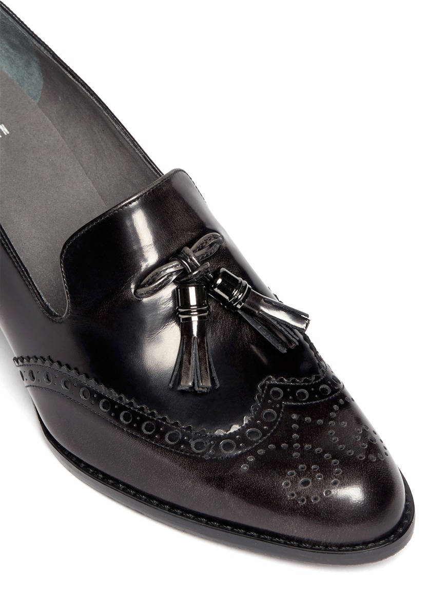 Lyst Stuart Weitzman Girl Thing Wingtip Tassel Loafers