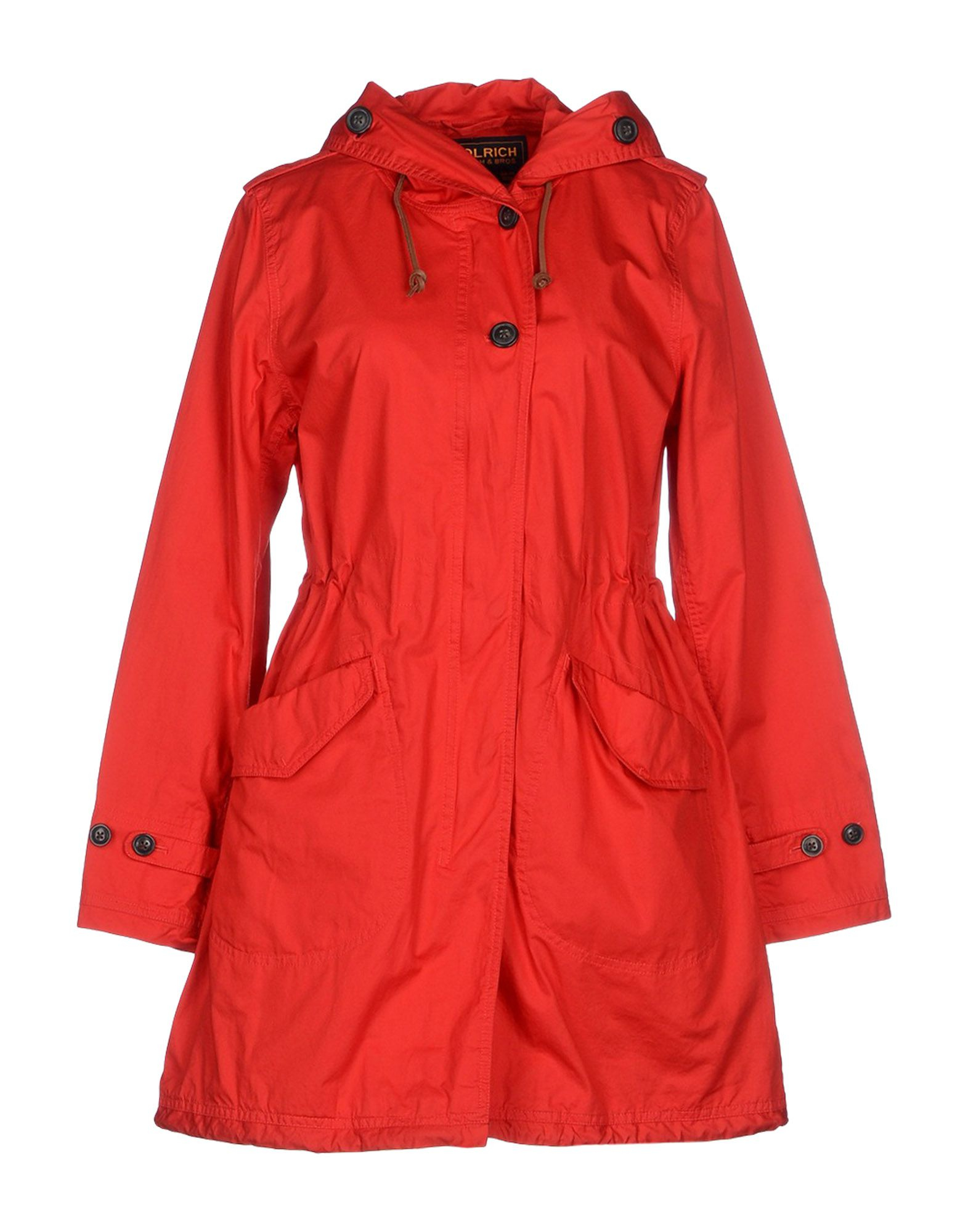 woolrich full length jacket in red save 54 lyst. Black Bedroom Furniture Sets. Home Design Ideas