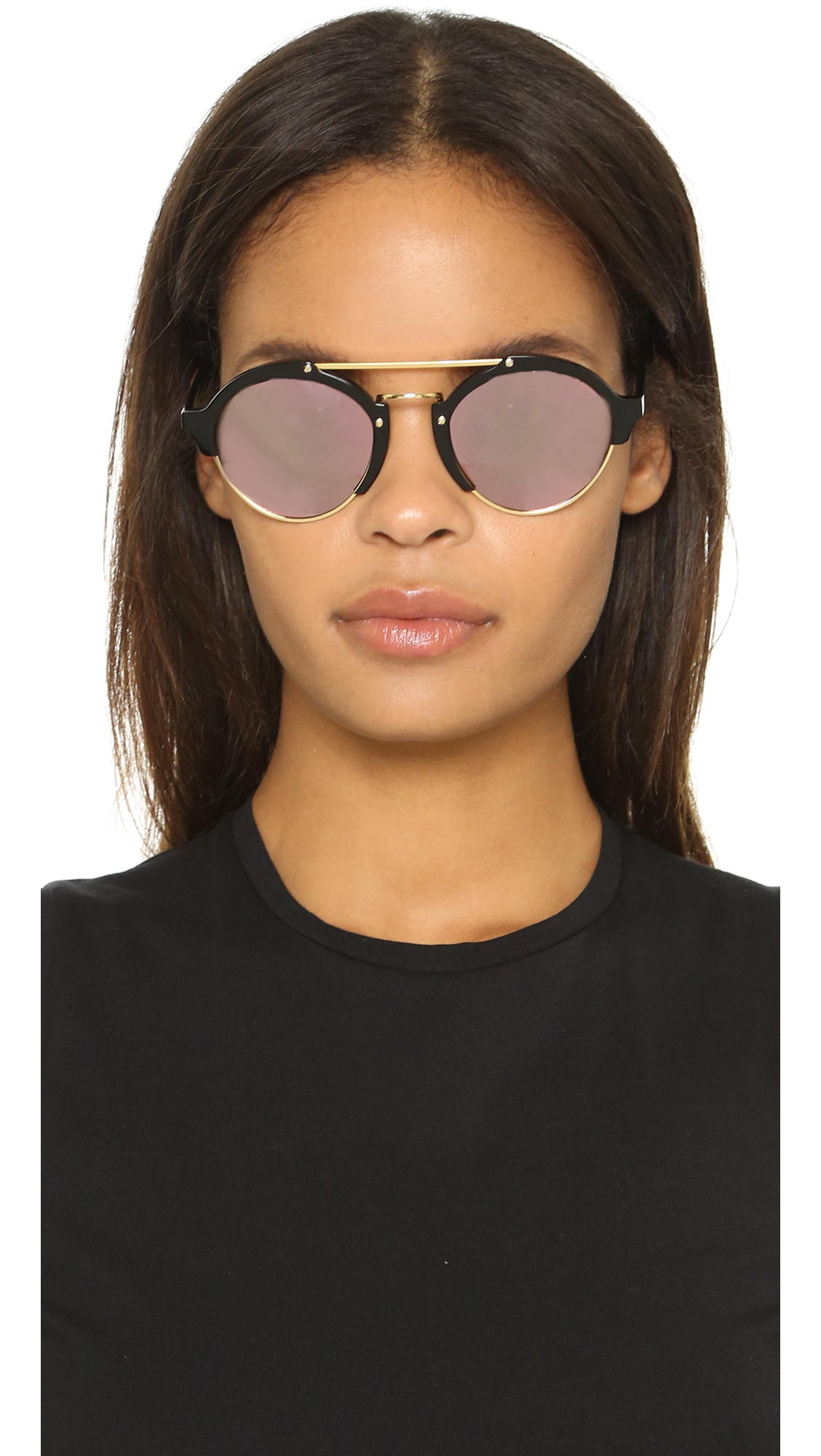 4bd0402f1d9be Lyst - Illesteva Milan Ii Mirrored Sunglasses in Black