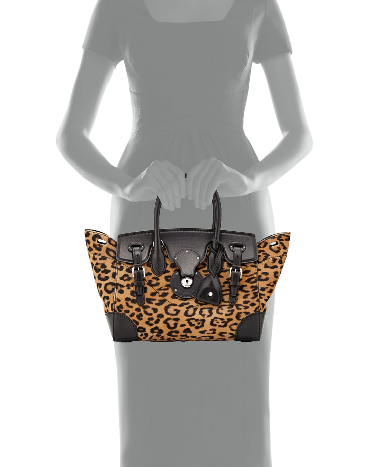 2b266ac980 Lyst - Ralph Lauren Ricky 27 Leopard-print Calf Hair Satchel Bag in ...