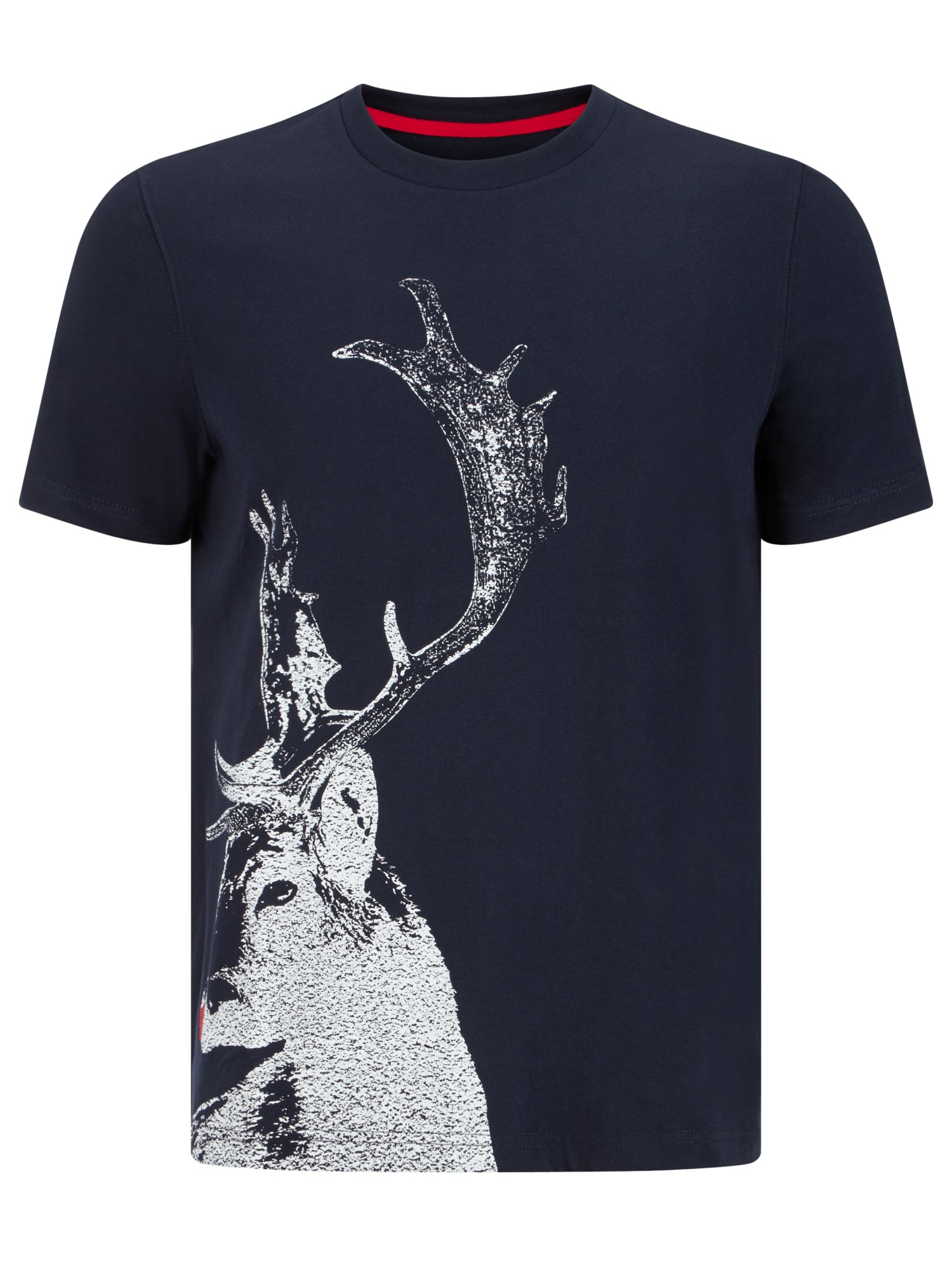 john lewis vintage stag organic cotton t shirt in navy blue for men lyst. Black Bedroom Furniture Sets. Home Design Ideas