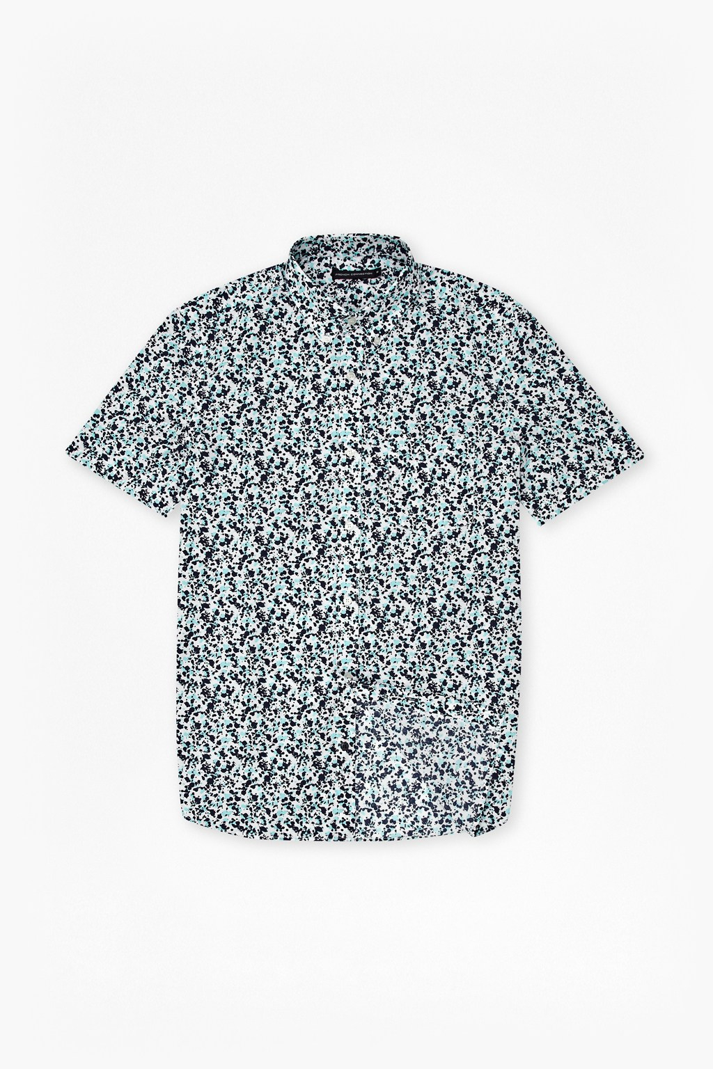 French Connection Pattern Slim Fit Short Sleeve Button