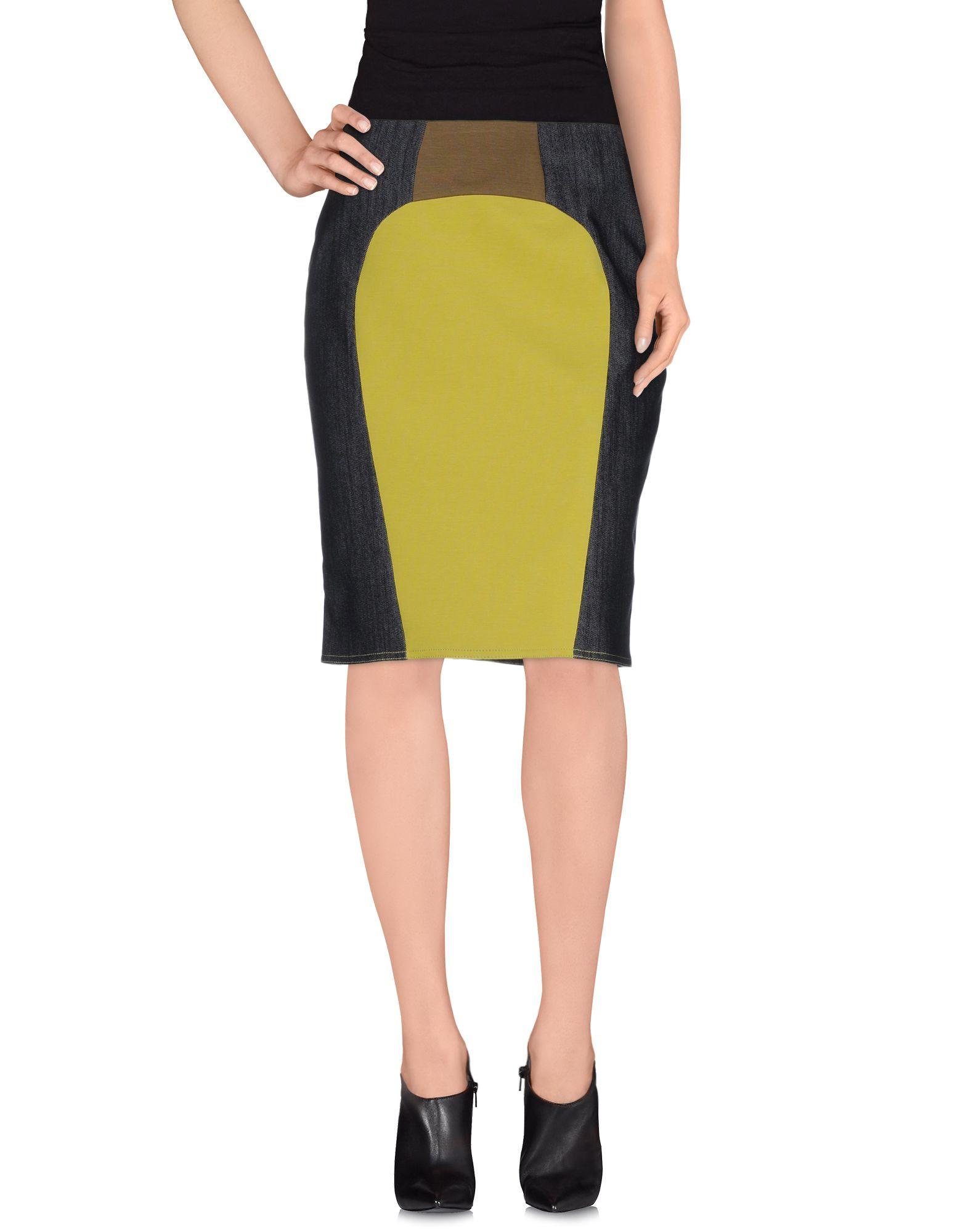 pianurastudio denim skirt in yellow lyst