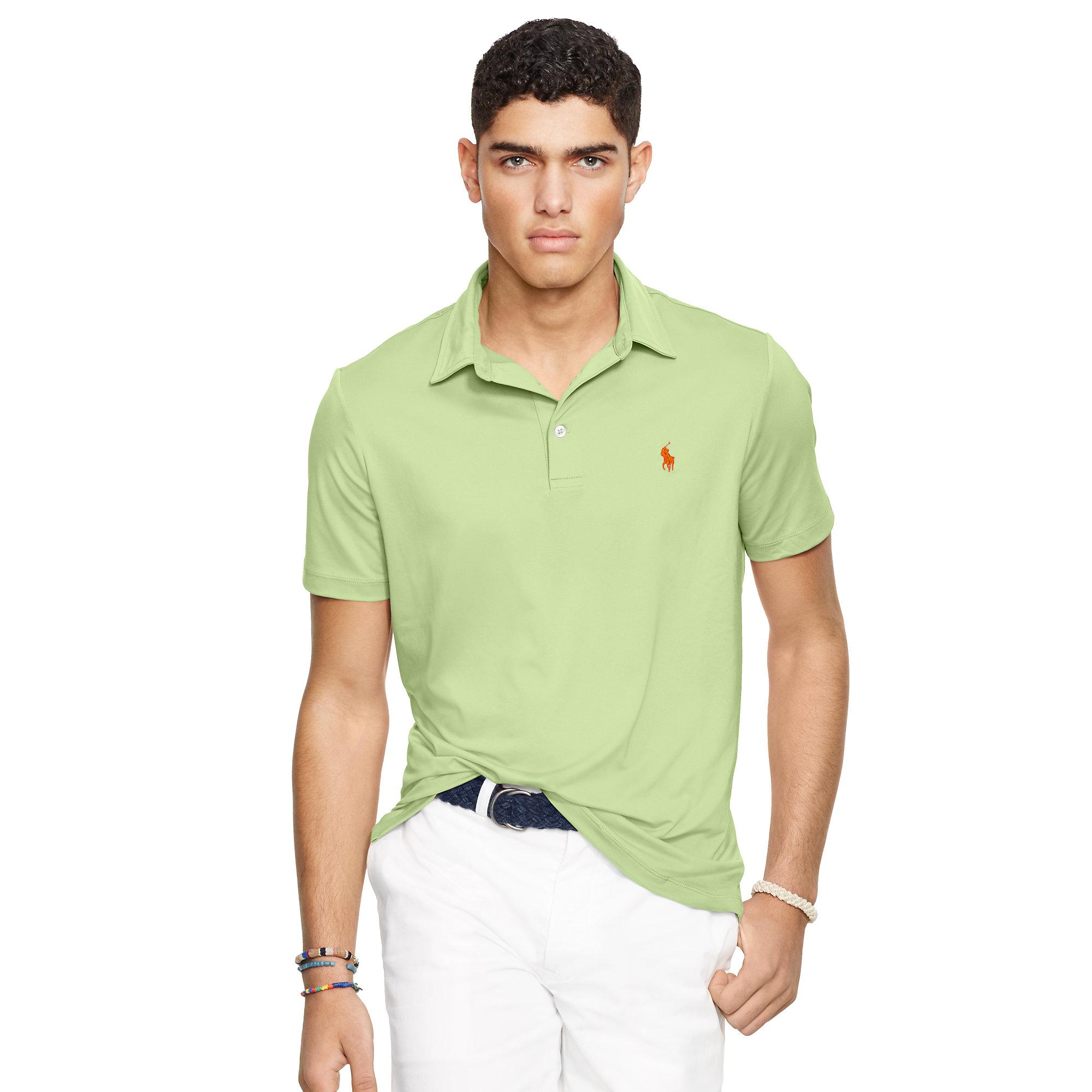 cbdeb3b17 Polo Ralph Lauren Custom-fit Performance Polo in Green for Men - Lyst
