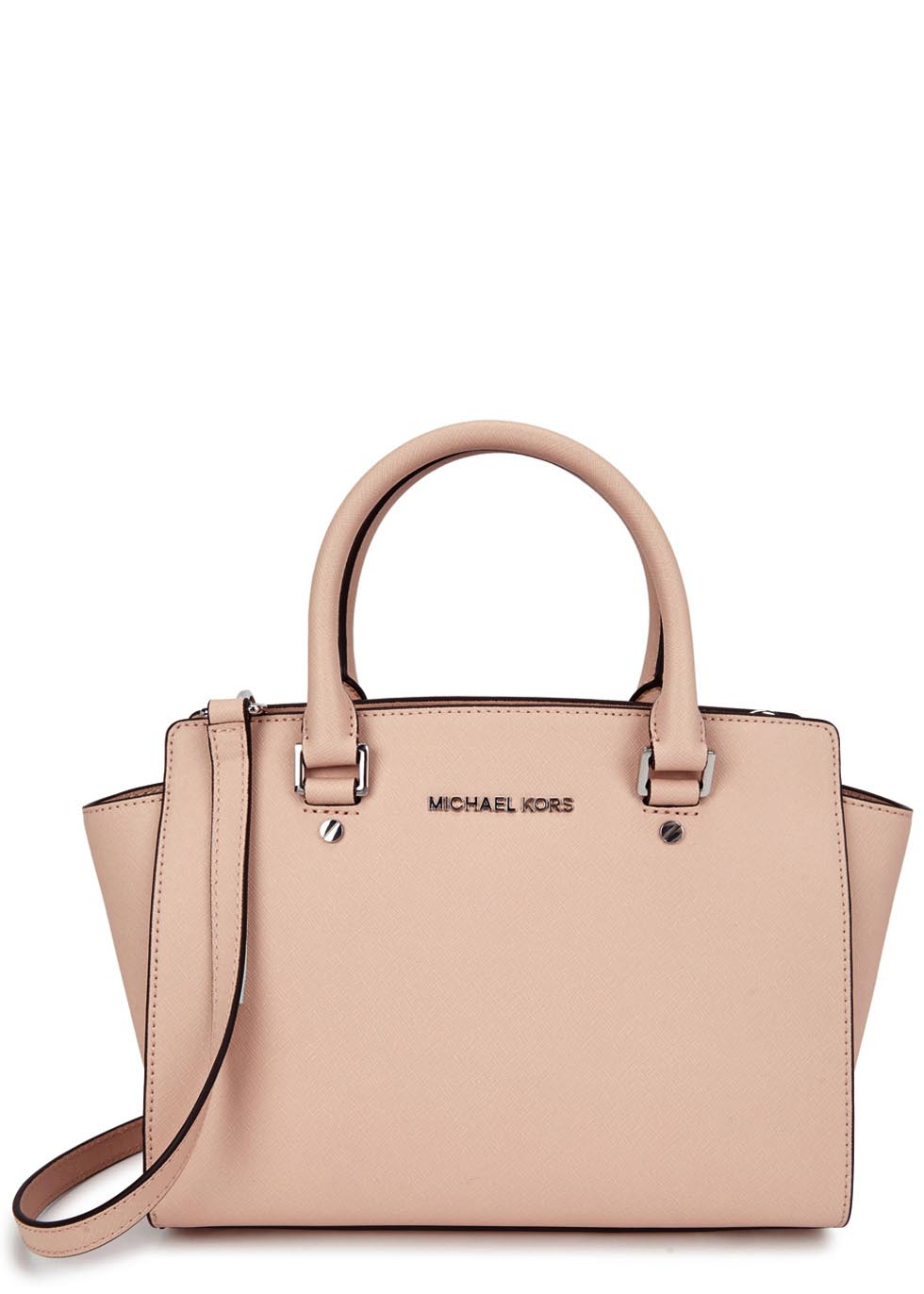 675a085489f6 Michael Kors Selma Medium Blush Leather Tote in Pink - Lyst