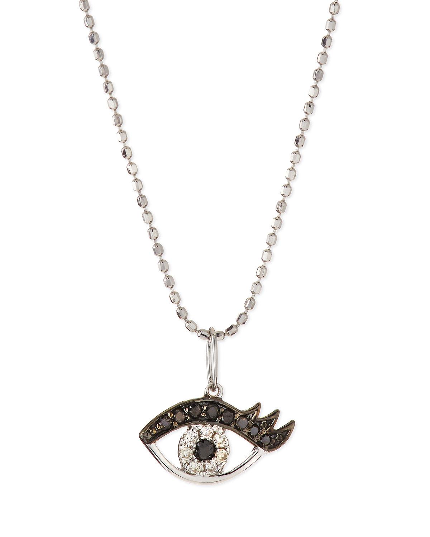Lyst sydney evan 14k white gold eyelash evil eye pendant necklace sydney evan womens metallic 14k white gold eyelash evil eye pendant necklace aloadofball Gallery