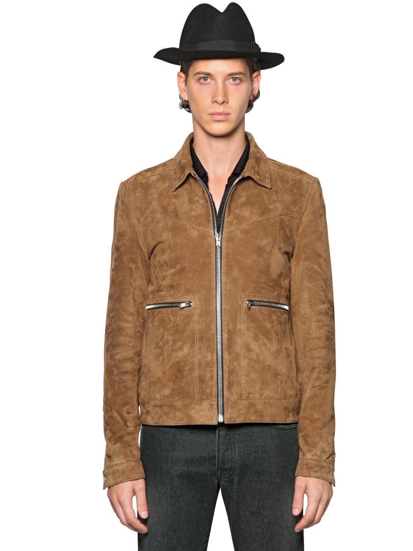 Brown Suede Jacket 8NQSs0