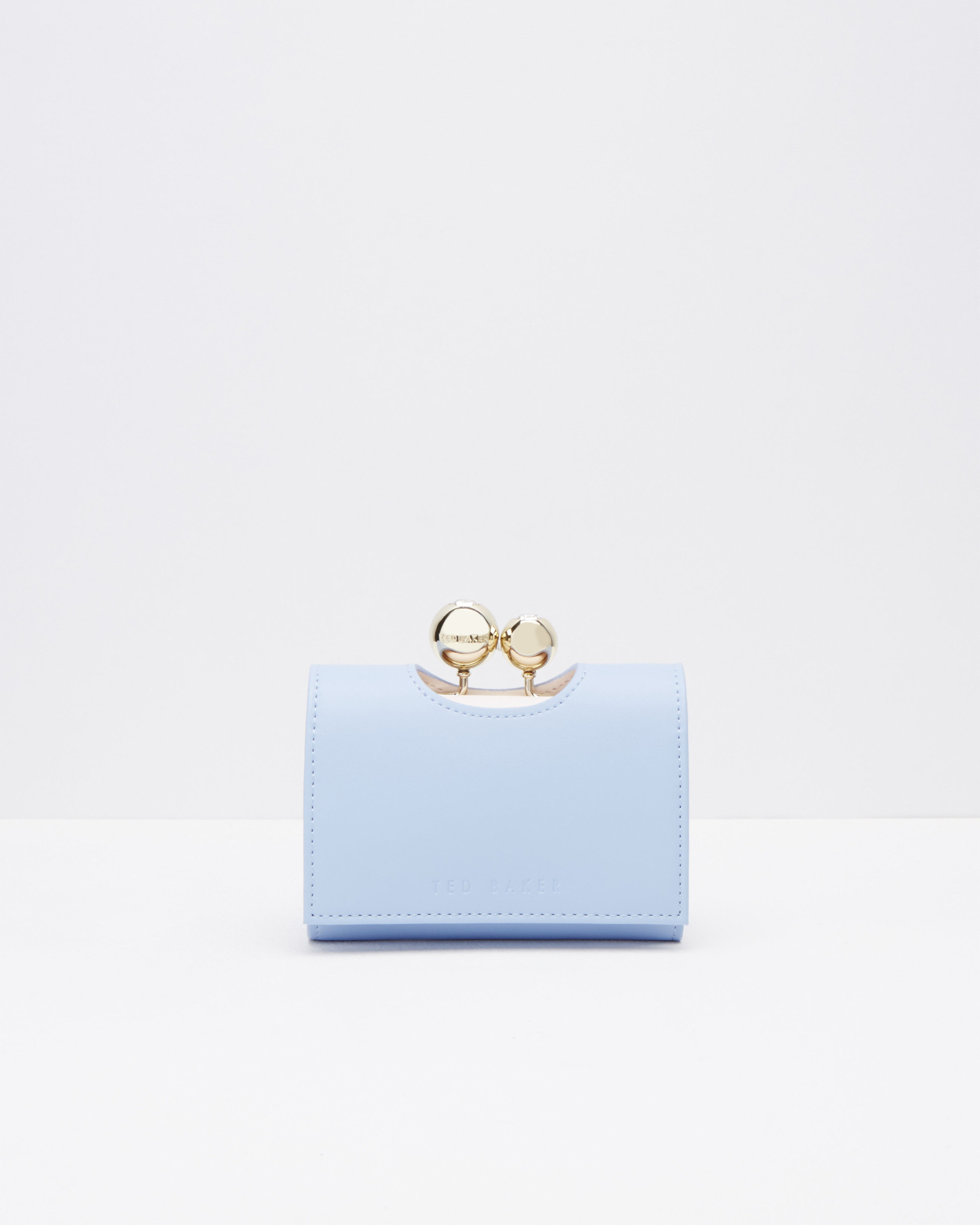 43113756e Lyst - Ted Baker Leather Crystal Bobble Small Purse in Blue