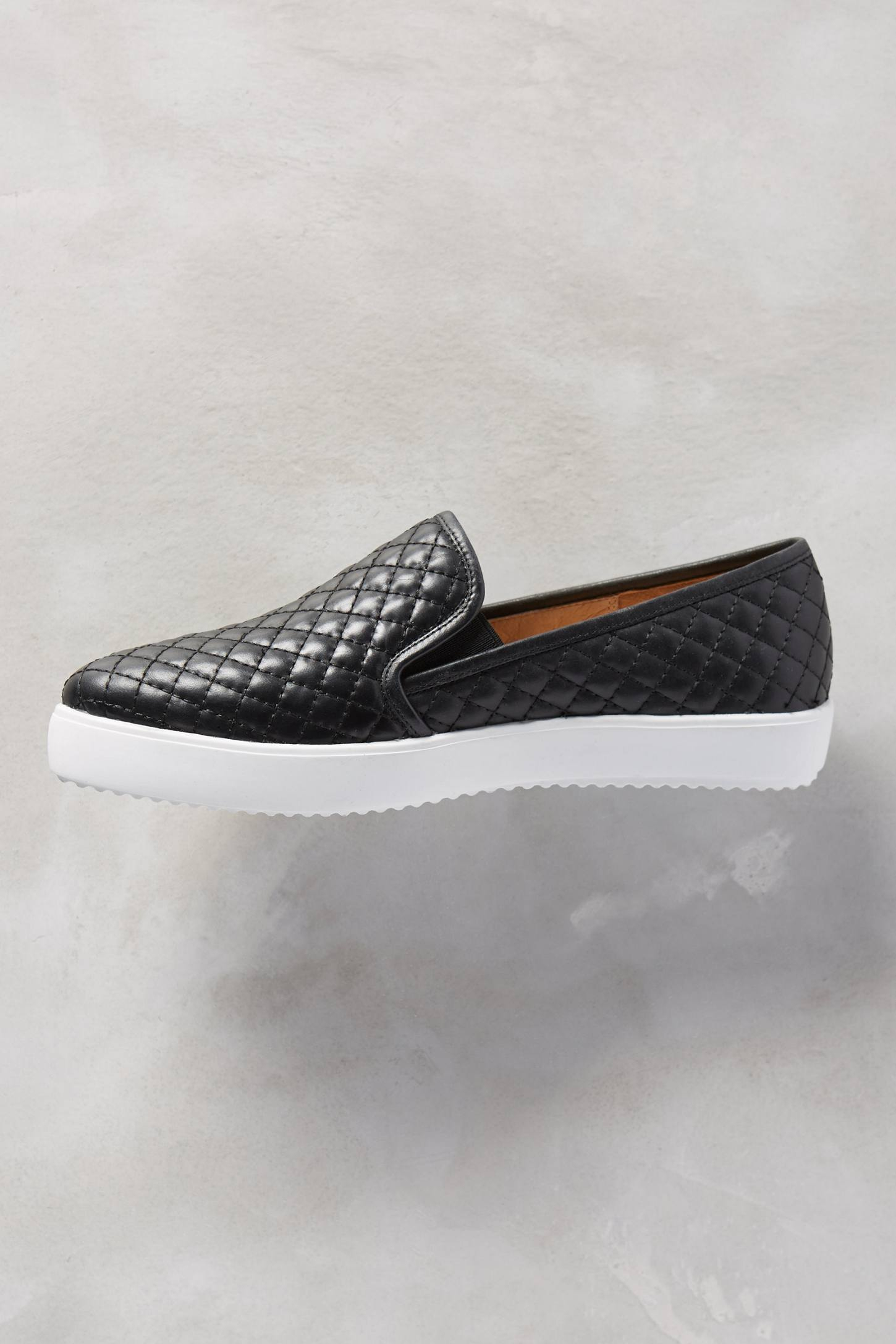 Anthropologie Quilted Slip On Sneakers In Black Lyst