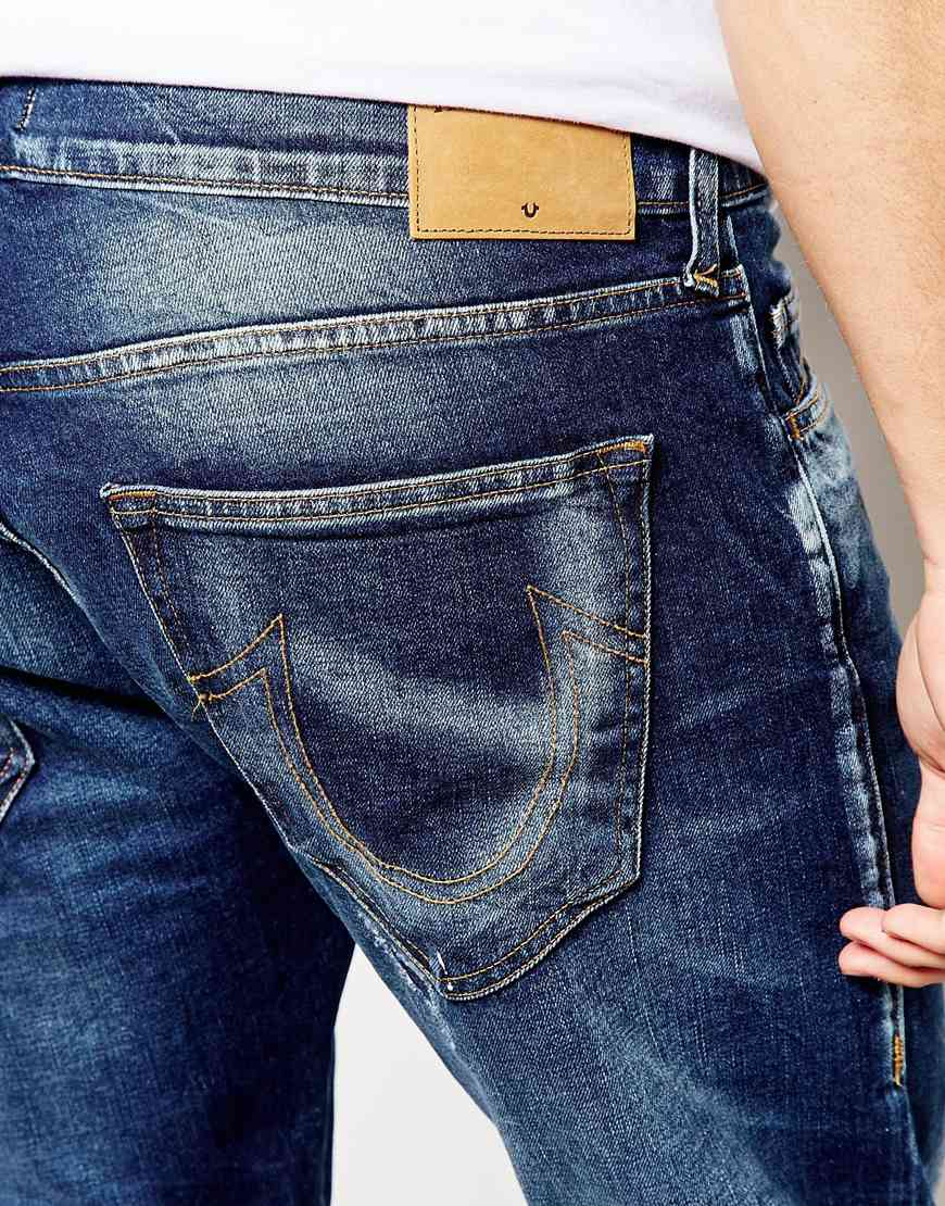 Lyst - True Religion Jeans Rocco Slim Fit Old Preshrunk in ...