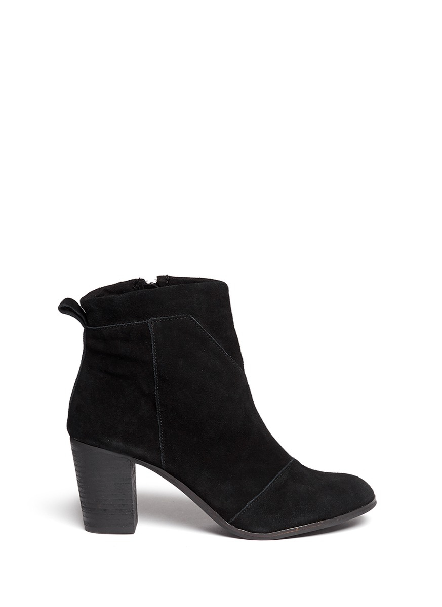 toms lunata suede boots in black lyst
