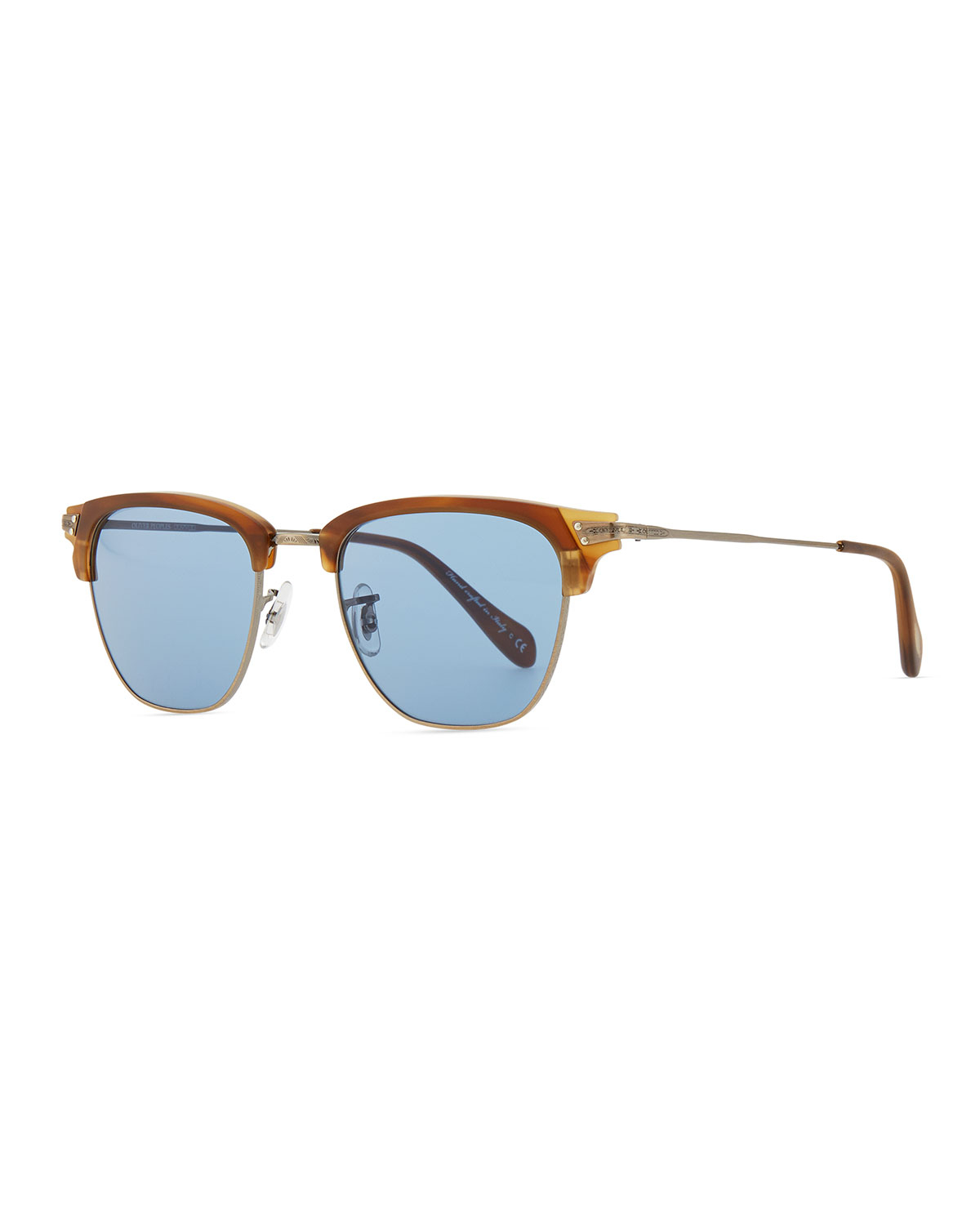 Lyst - Oliver Peoples Mens Banks Half-rim Sunglasses in Blue for Men