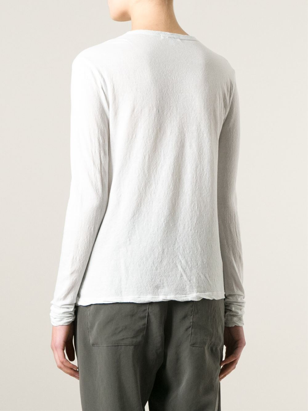 James perse scoop neck t shirt in gray grey lyst for James perse t shirts sale