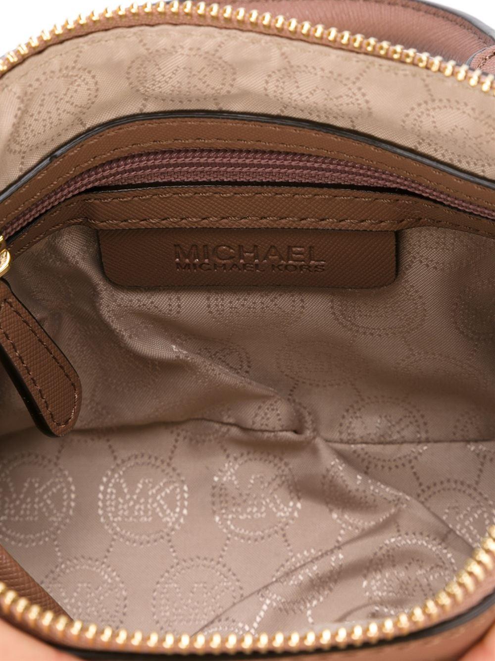 0b2909aec330 ... Michael Michael Kors Mini cindy Crossbody Bag in Pink - Lyst ...