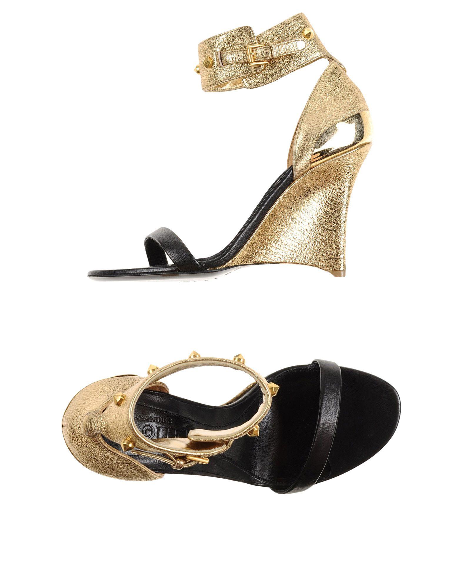 Alexander McQueen Crisscross Chunky-heel Sandal in Black
