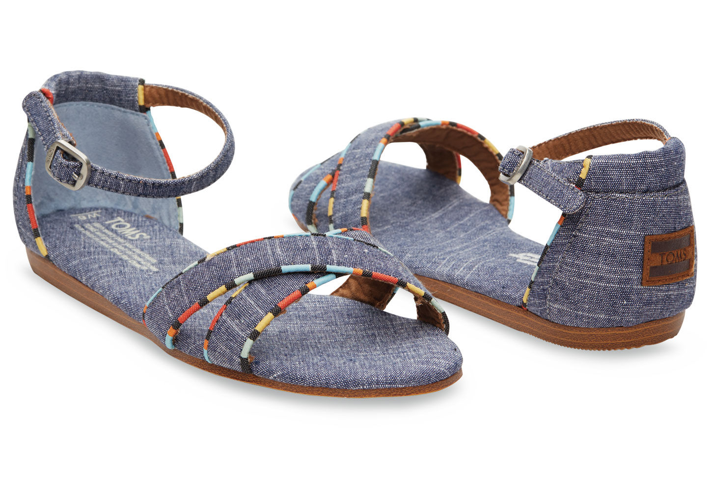 1d9cff07a9f Lyst - TOMS Chambray Women s Correa Sandals in Blue