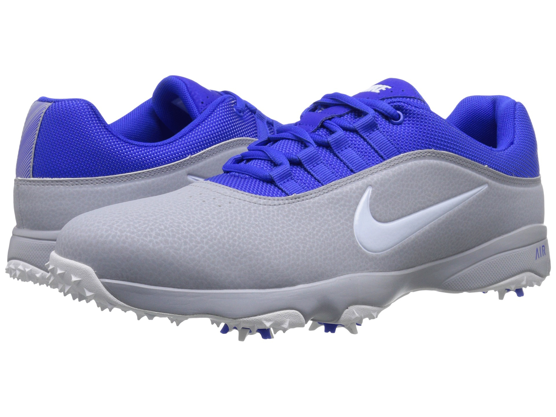 2016 Latest Design Mens Golf Shoes - Nike Air Rival 4 Wolf Grey/White/Racer Blue