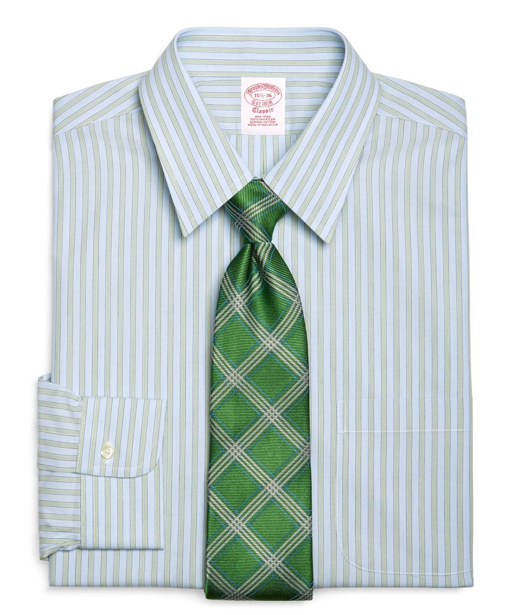 Lyst brooks brothers supima cotton noniron slim fit for Supima cotton dress shirts