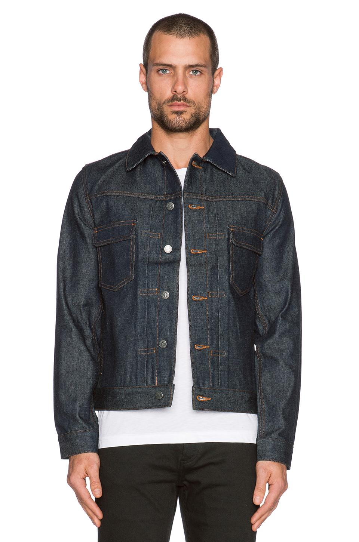c5a211d5ba30 Lyst - A.P.C. Veste Jean Work Denim Jacket in Blue for Men