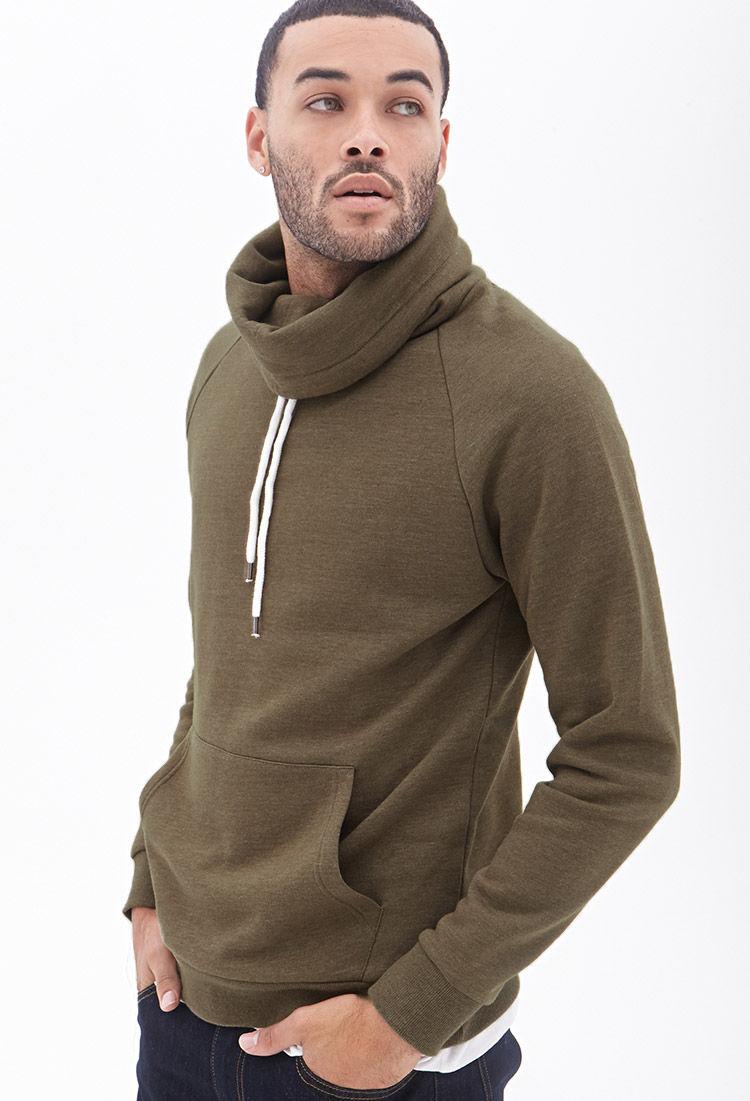Forever 21 Cowl Neck Sweatshirt in Green for Men | Lyst