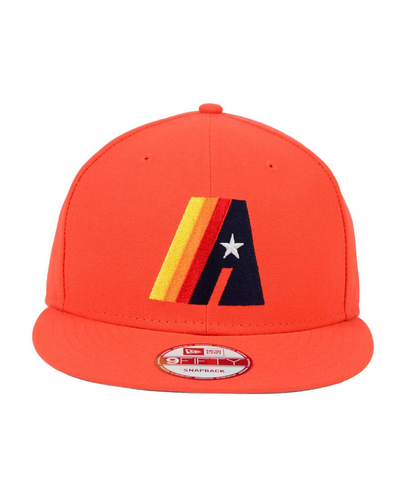 huge selection of 42a6c 84c05 ... wholesale lyst ktz houston astros 9fifty snapback cap in orange for men  fe3a4 c852b