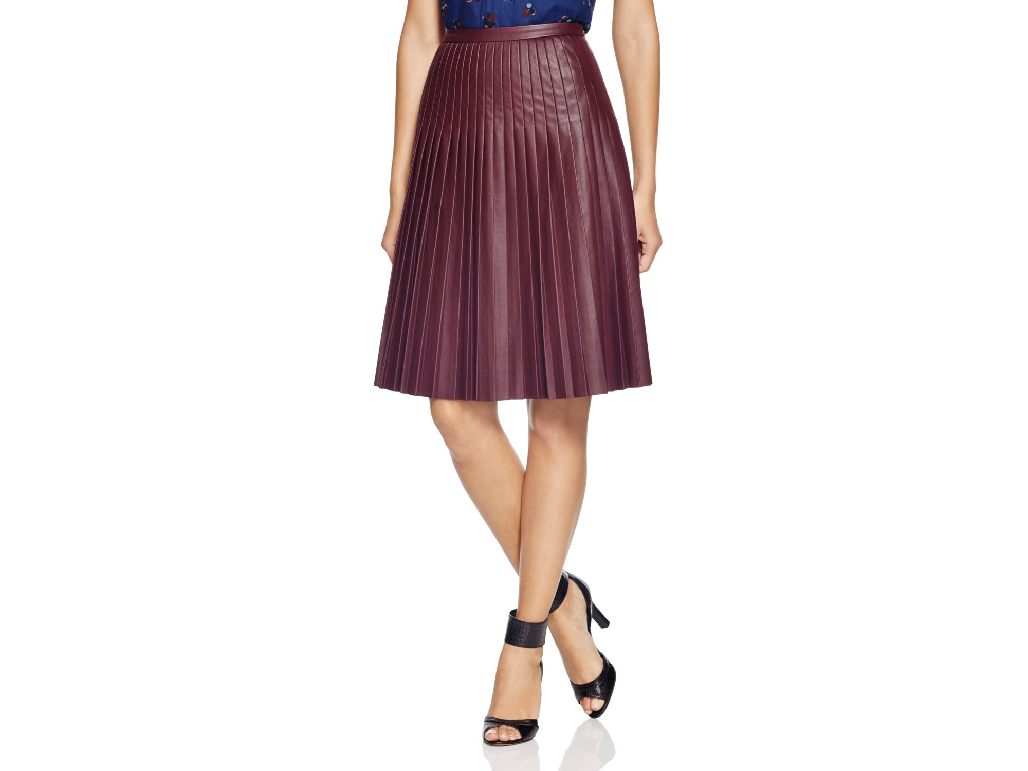 21fc9a15d1 Rebecca Taylor Faux Leather Pleated Skirt - Bloomingdale's Exclusive ...