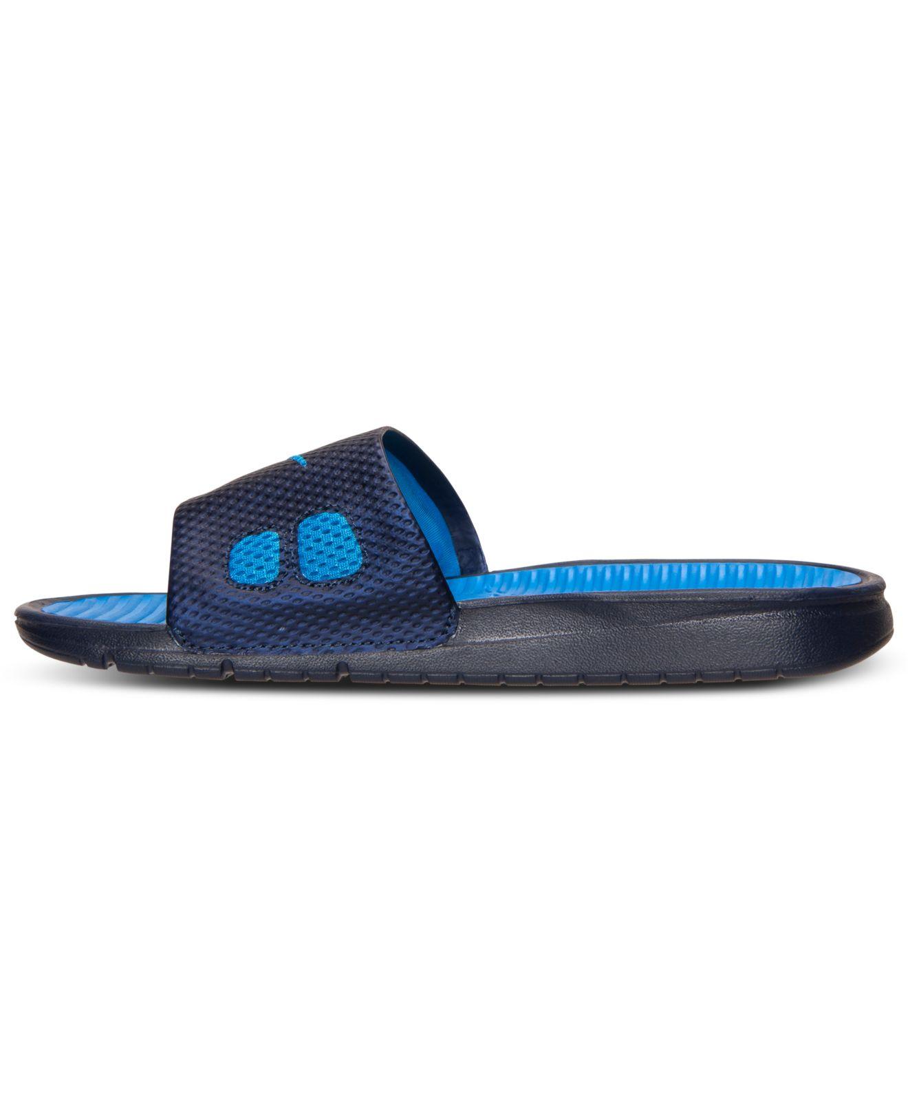 Nike Men S Benassi Solarsoft Slide Sandals From Finish