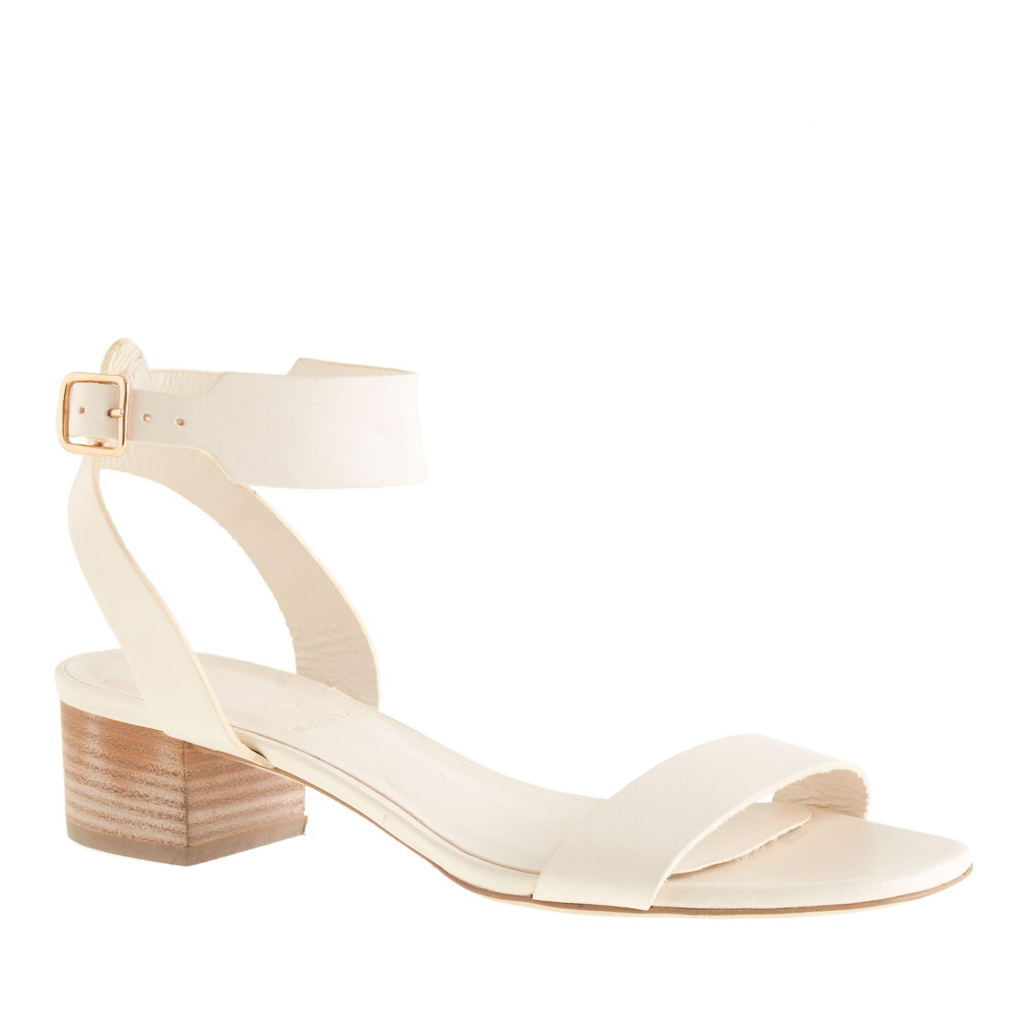 Cream Kitten Heel Sandals