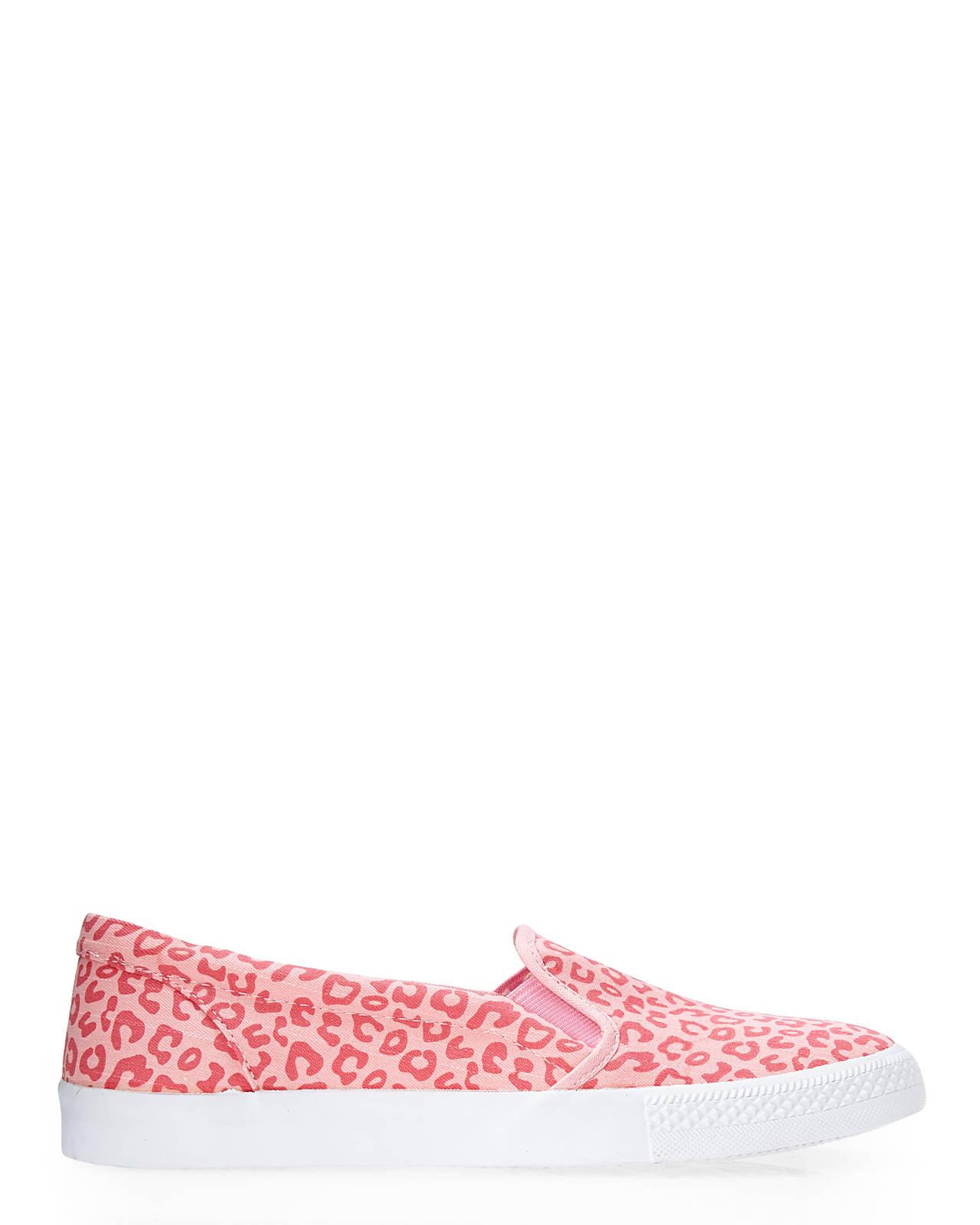 betsey johnson pink amira leopard print slip on sneakers