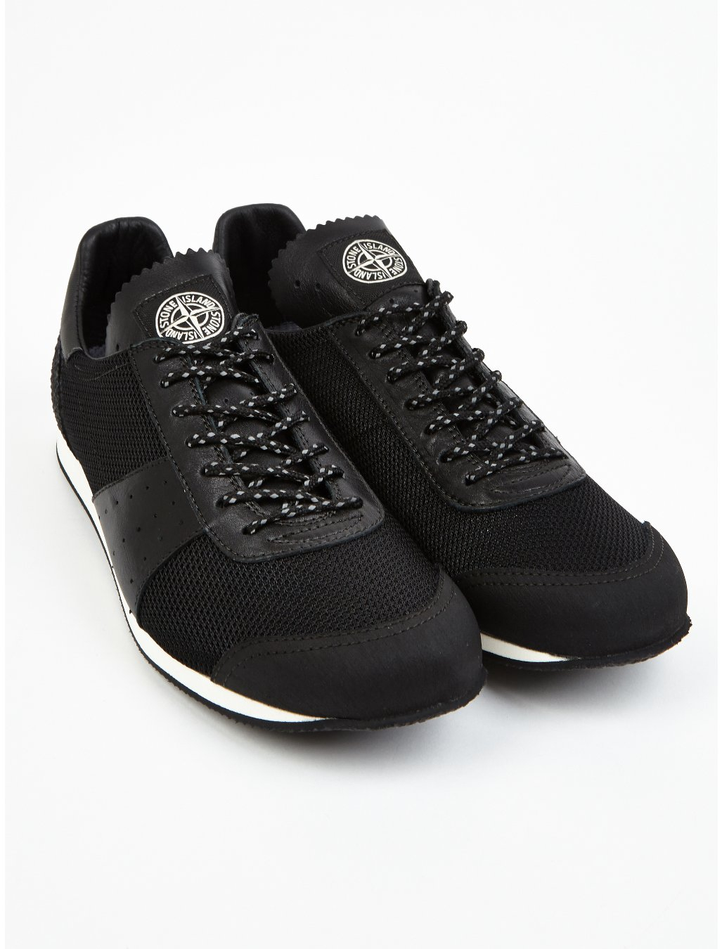 Black Nike Shoes With Reflective On Lace