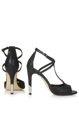 649c19f64b33 Topshop Regal Strappy Heels in Black - Lyst