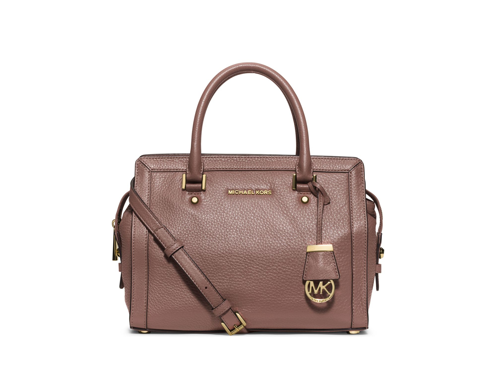 michael michael kors collins medium satchel in pink lyst. Black Bedroom Furniture Sets. Home Design Ideas
