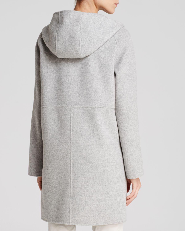 Weekend by maxmara Coat - Celia Hooded in Gray | Lyst
