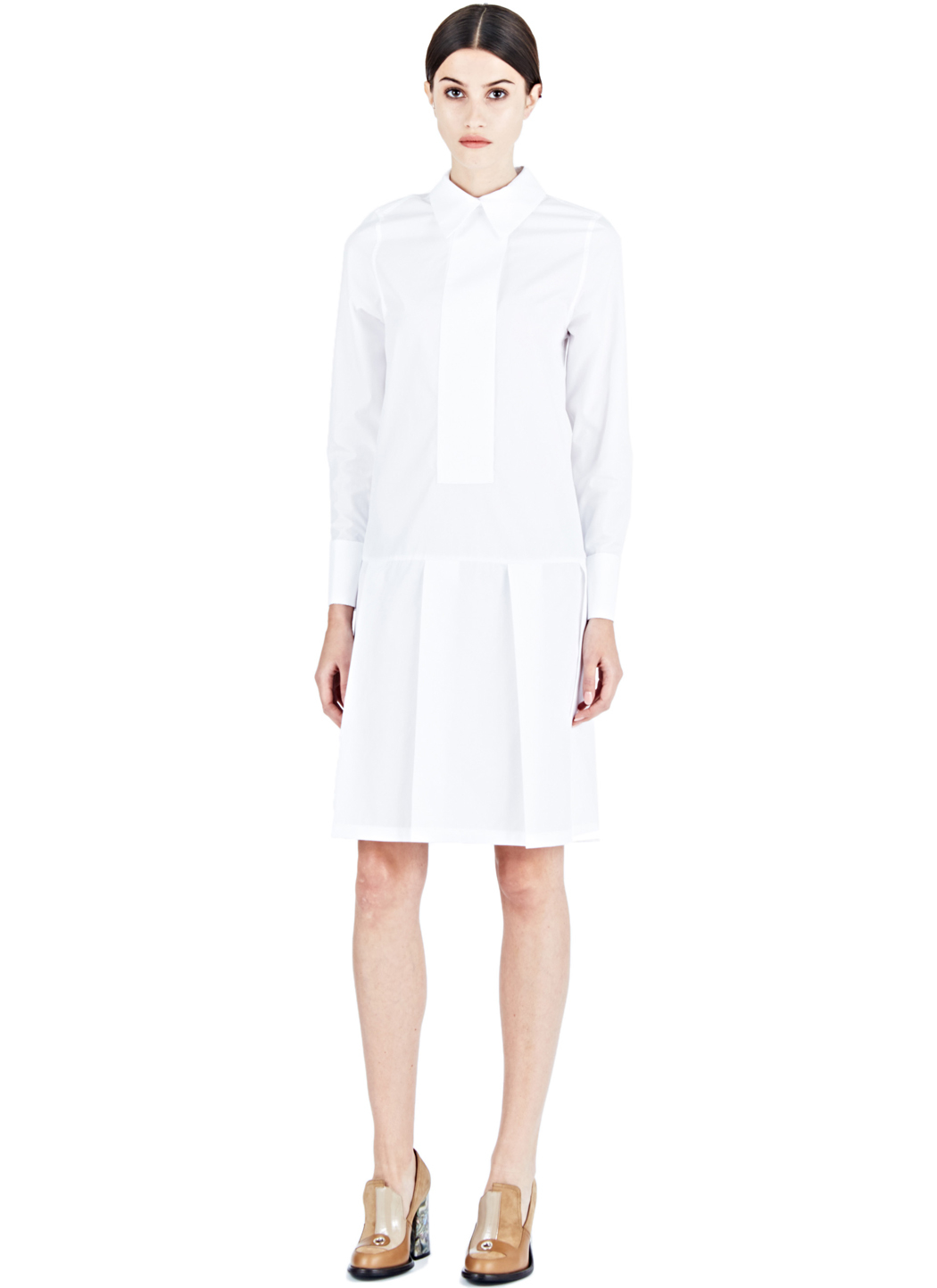 lyst j w anderson long shirt dress in white