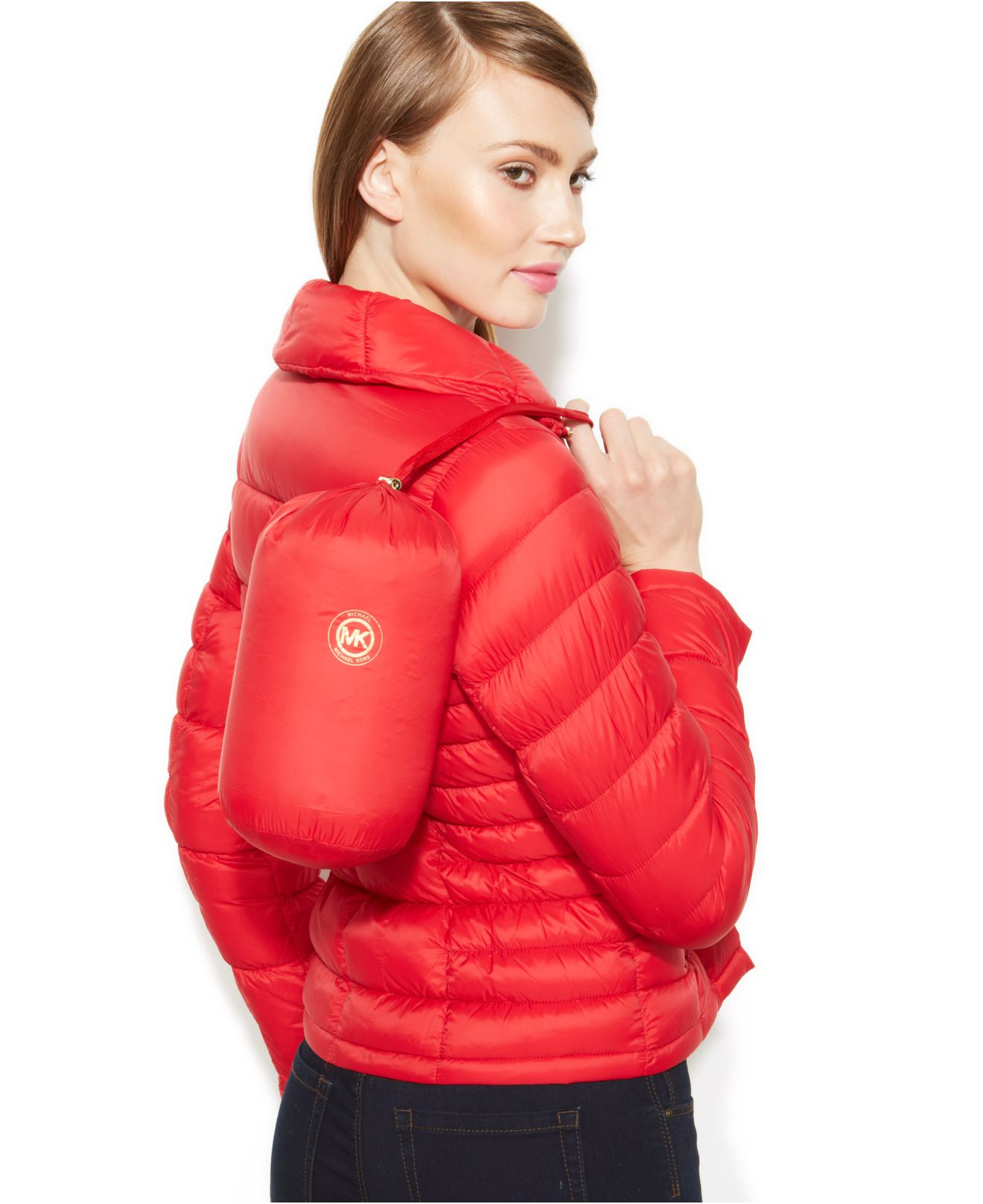 Lyst - Michael kors Michael Packable Quilted Down Puffer ...