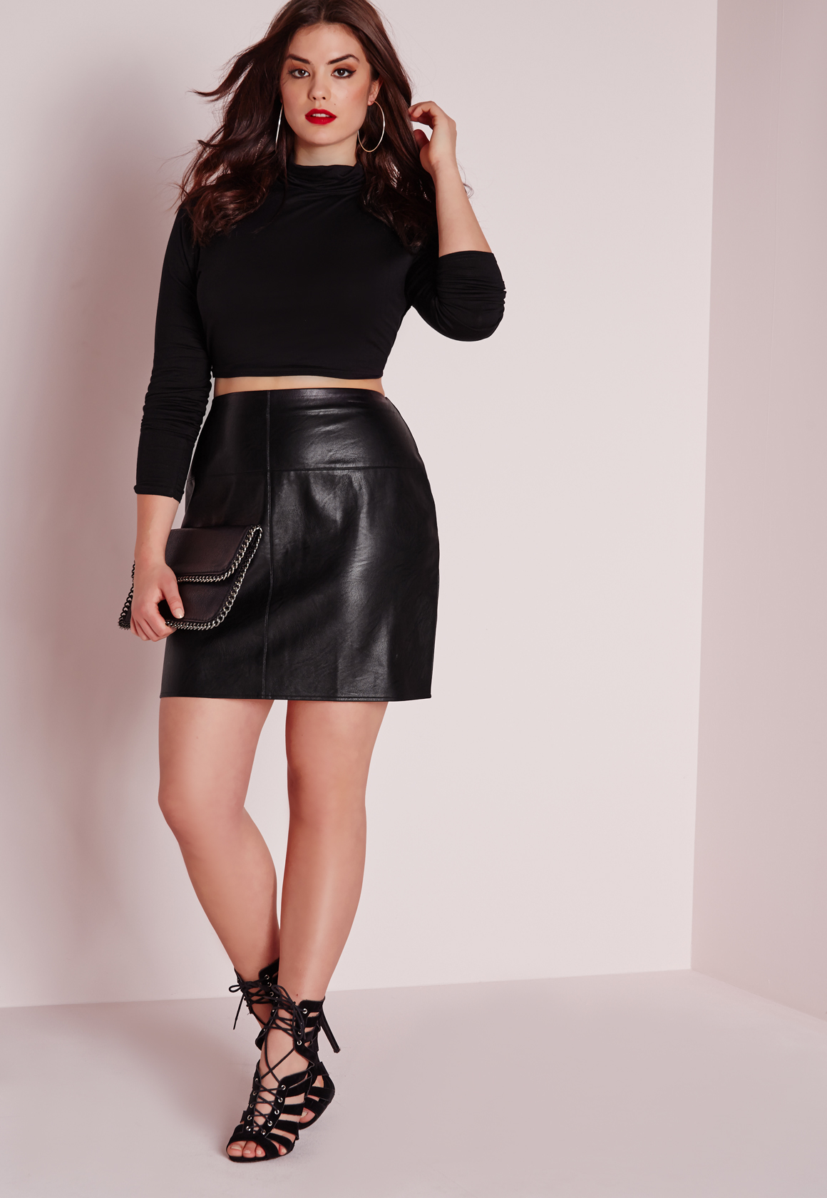 Plus size white faux leather skirt – Modern skirts blog for you