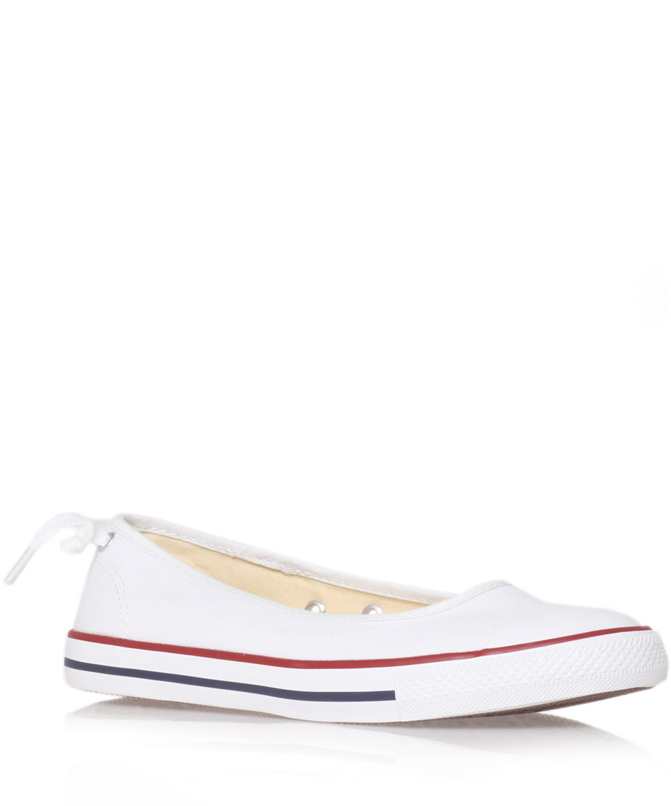 ac9d72a52ed567 Lyst - Converse White Chuck Taylor Ballerina Plimsolls in White