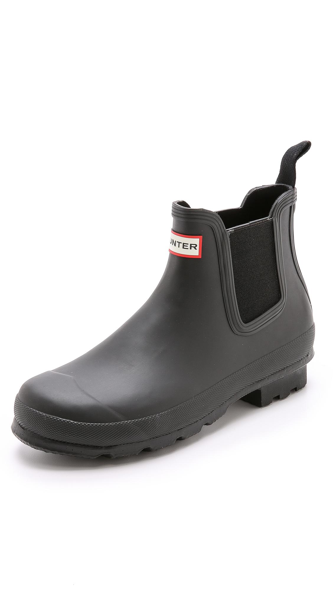 hunter original chelsea boots in black for men lyst. Black Bedroom Furniture Sets. Home Design Ideas