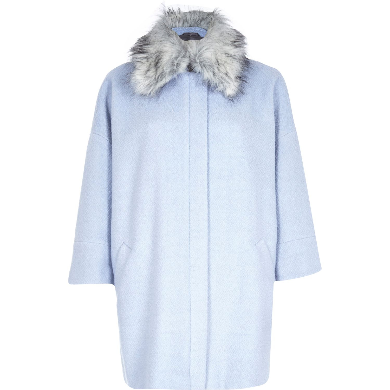 River Island Brown Fur Coat