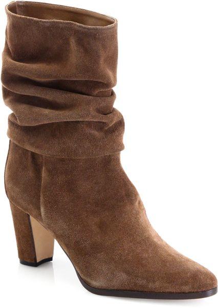 manolo blahnik lauratostud leopard print sandal in brown