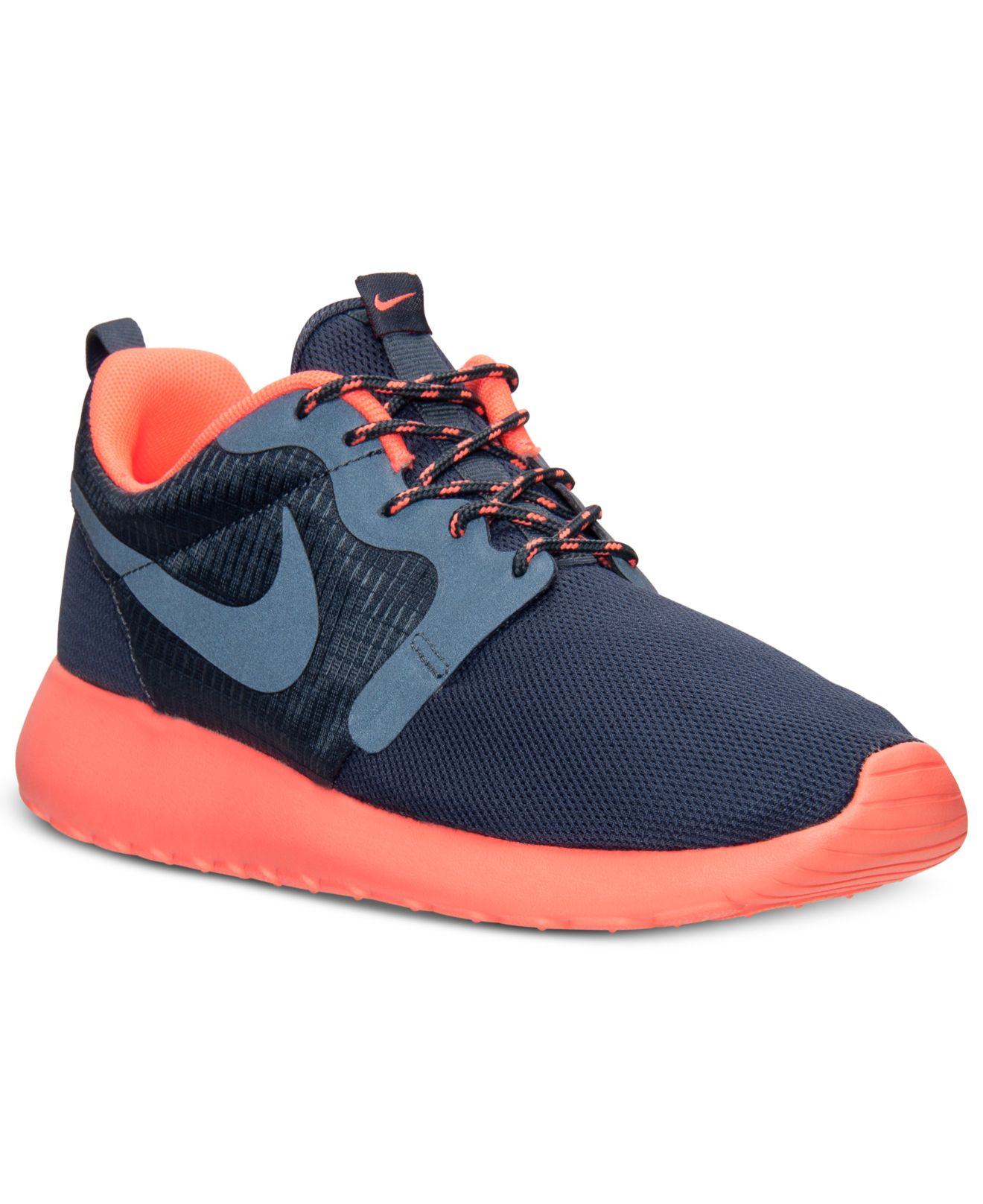 nike women 39 s roshe run hyperfuse casual sneakers from. Black Bedroom Furniture Sets. Home Design Ideas