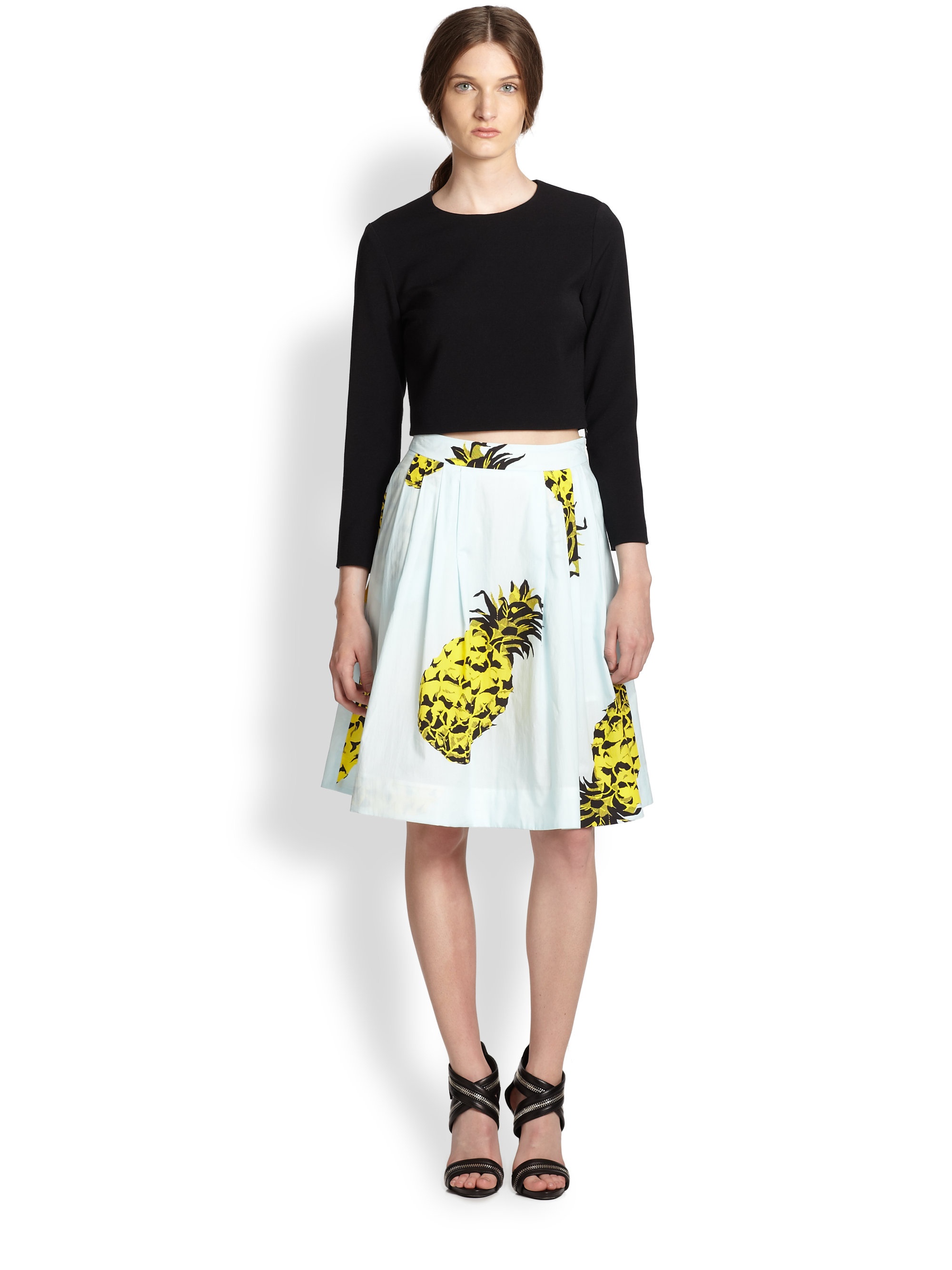 River Island Pineapple Skirt