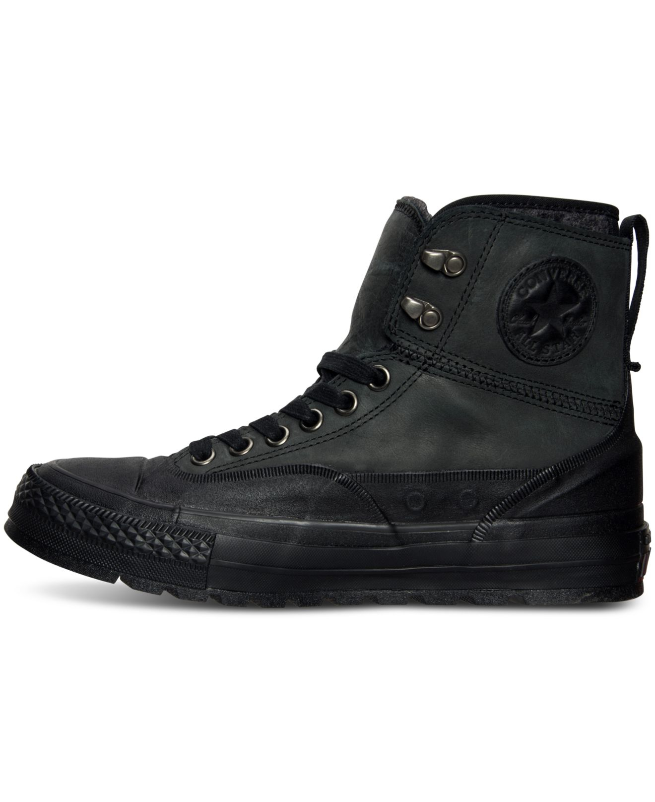 7ccf1b10e8e7ba good mens converse mid street black leather shoes 94984 6d4d9  coupon code  for lyst converse mens chuck taylor all star tekoa boots from finish 6f0e5  01010